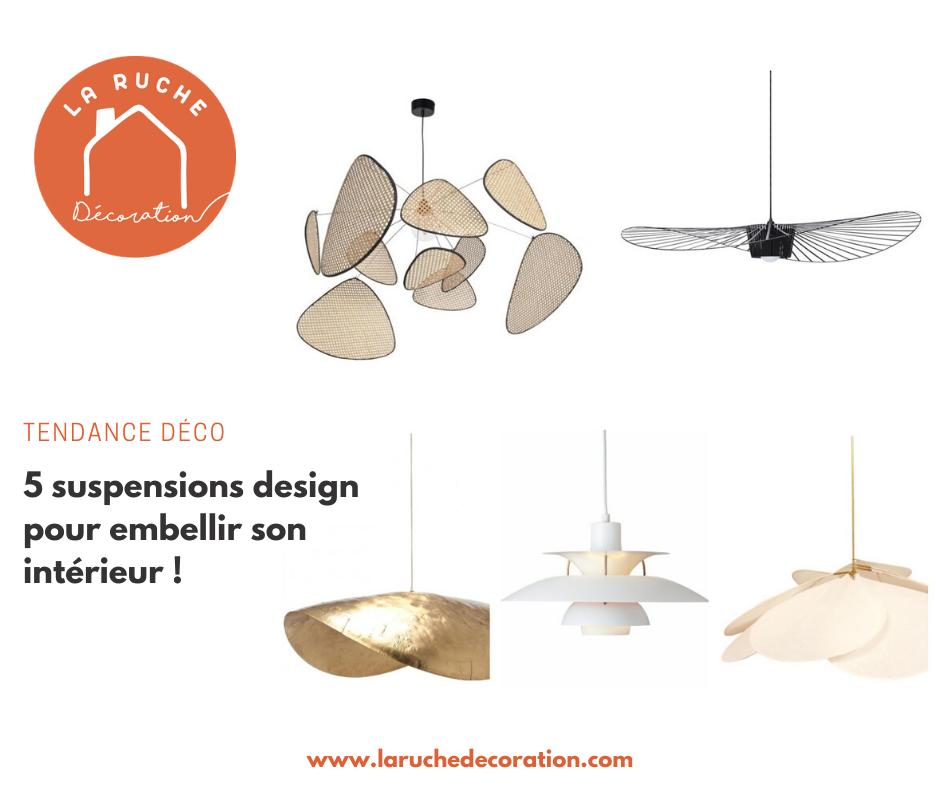 Quand la lumière se fait reine : zoom sur 5 suspensions design pour embellir son intérieur !