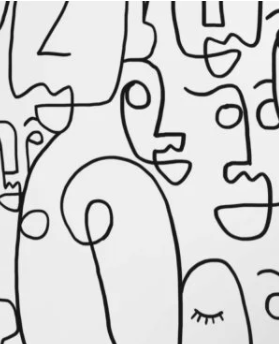 papier peint visages